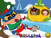Crayon Shin Snowball Fight