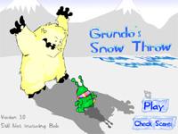 Grundos Snow Throw